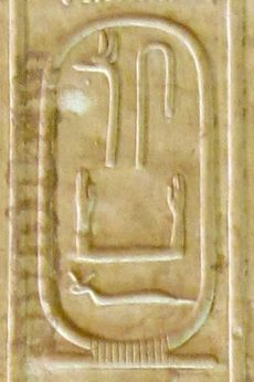 Relief showing hieroglyphs in a cartouche