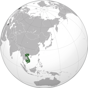 Green: French Indochina Dark gray: Other French possessions Darkest gray: French Republic Note: Thin white lines designate the subdivisions of French Indochina that now constitute1901) Hanoi (1902–1954)