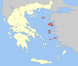 Location of شمال إيجة North Aegean