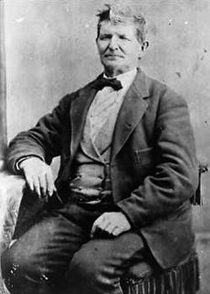Black and white portrait of John D. Lee, who established Lee's Ferry across the Colorado River