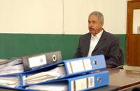 علي حسن المجيد خلال جلسة التحقيق