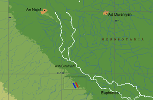 موقع معركة الولاجة.PNG