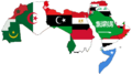 A map of the Arab World with flags.png