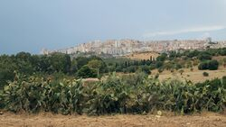 Agrigento as seen from the Valley of the Temples.