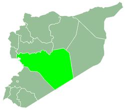 خريطة سوريا، موضح فيها حمص.