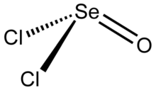 Structure of the selenium oxydichloride molecule