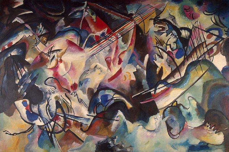 الباوهاوس Bauhaus مدرسة رائدة جمعت 800px-Kandinsky_-_Co